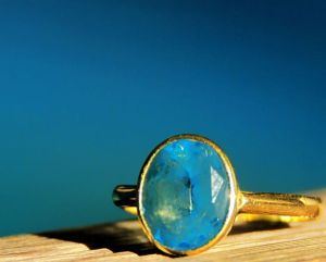 Blue topaz, blue water